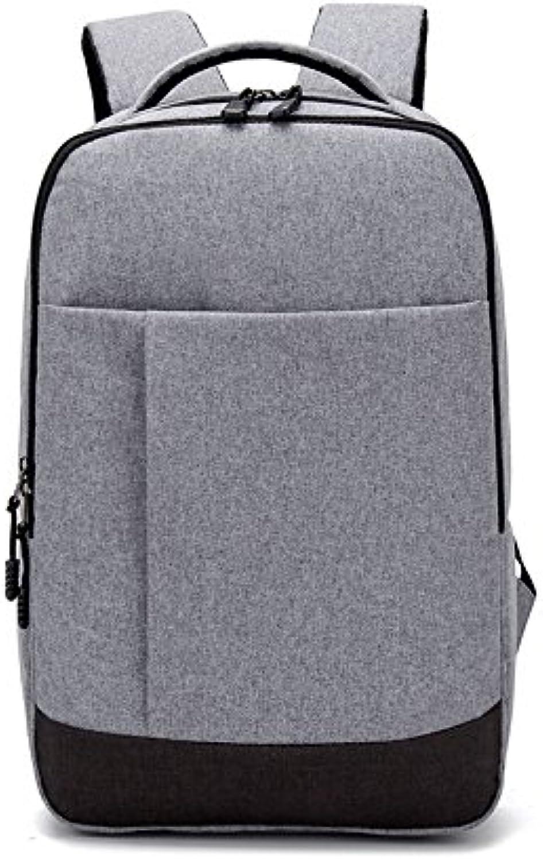 Lmopop Multi Funktion Doppel Schulter Tasche Men Zipper, grau