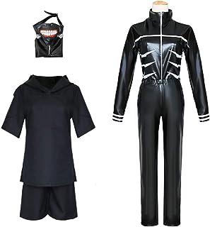 lijun 3D Tokyo Ghoul Kaneki Ken Cosplay Maschera con Benda sullocchio Puntelli Costume di Halloween