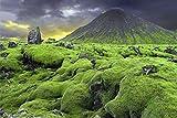 Island Iceland Vulkan Art XXL Wandbild Kunstdruck Foto