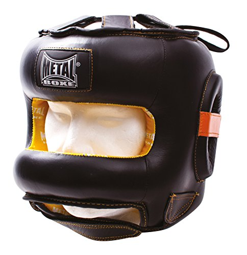 METAL BOXE Title Casque Barre Mixte Adulte, Noir, L