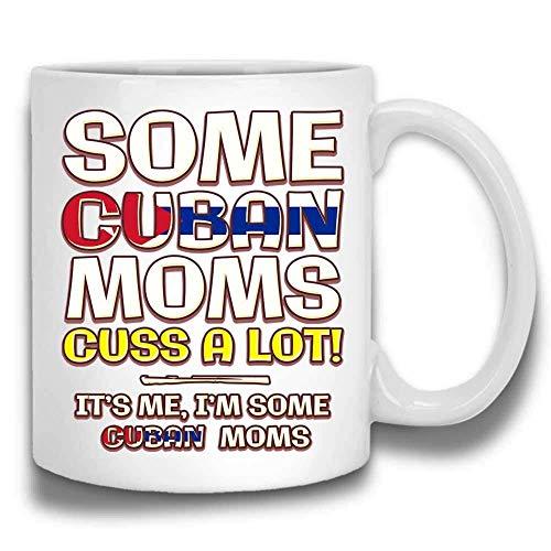 Algunas mamás cubanas maldicen mucho a la madre divertida de Taza De Café de  Primavera! Cerámica Blanca 11 Oz JCPCXA