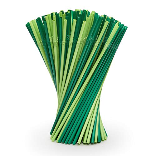 Plantvibes 100 Bio-Strohhalme, kompostierbar& CO2 neutral, Trinkhalme aus Stroh, geschmacksneutrale Cocktail Strohhalme, lange Strohhalme Natur, 24 cm