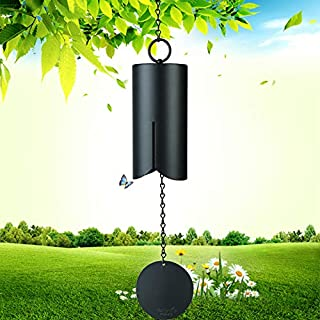 Agirlgle Large Wind bell Wind Chimes outdoor indoor HWMC Heroic Windbell, 28-Inch Garden wind chimes amazing grace for Patio and Terrace - Best Metal Musical Windchime and Home Decoration (black 28in)