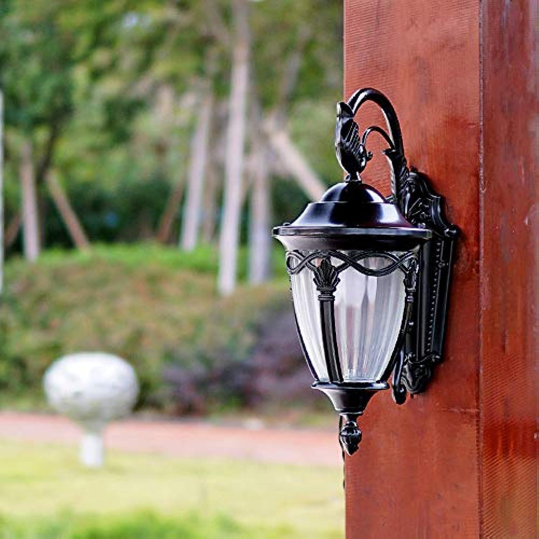 LDDENDP Vintage Auenleuchte Wandleuchte Garten Hof Balkon Korridor Terrasse Wasserdichte Wandleuchte E 27 Innen- und Auenbeleuchtung, Balkongehweg, Wandleuchte aus Aluminiummetall, Glaslampe