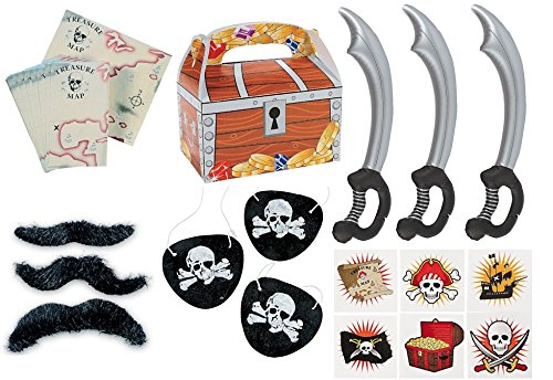 Pirate-Themed Party Favors (Set of 12)
