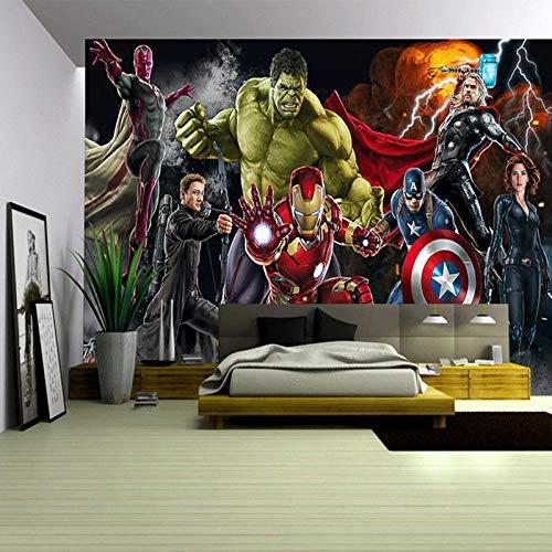 Avengers Carta Da Parati 3D Personalizzata Per Pareti Hulk Iron Man Captain America Adesivo Ragazzo Camera Da Letto Soggiorno Designer-150x105cm
