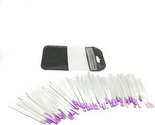 Bostar 100PCS 5.5CM Fibra de Vidrio Extensión de Uñas Puntas de Acrilico Manicure Consejos de Acrílico de Seda Uñas de Belleza DIY Salón