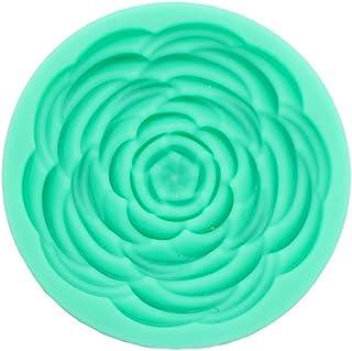 《モモミュゼット》シリコンモールド ローズD レジン 石膏 アロマストーン 手作り 石鹸 キャンドル 樹脂 粘土 型 抜き型 MD-120111