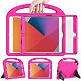 LEDNICEKER New iPad 8th Generation Case for Kids, iPad 7th Generation Case 2019, iPad 10.2 Case with Screen Protector, Shockproof Lightweight Handle Stand Case for iPad 10.2' 2020 Latest Model, Rose