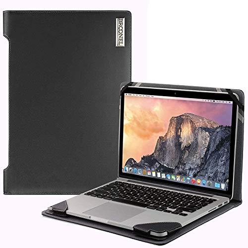 Broonel - Serie de perfiles - Estuche para De Cuero Negro - Compatible con La Thomson NEO14A-4WH64 Laptop 14,1'