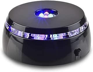 Santa Cruz Lights 4 LED Round Color Light Stand Base for Crystals/Glass Art