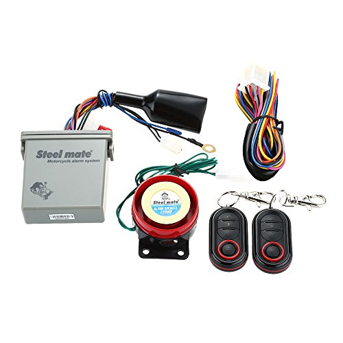Steelmate 986E Roller Motorrad Alarm System Anti Diebstahl Sicherheitssystem mit Doppel Fernbedienung Alarmanlage mit Fern Motorstart und Mini Sender