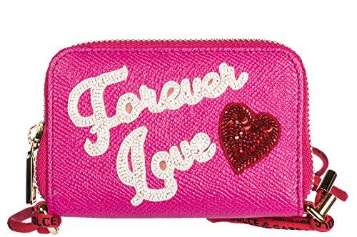 Dolce&Gabbana monedero cartera de mujer en piel nuevo dauphine fuxia