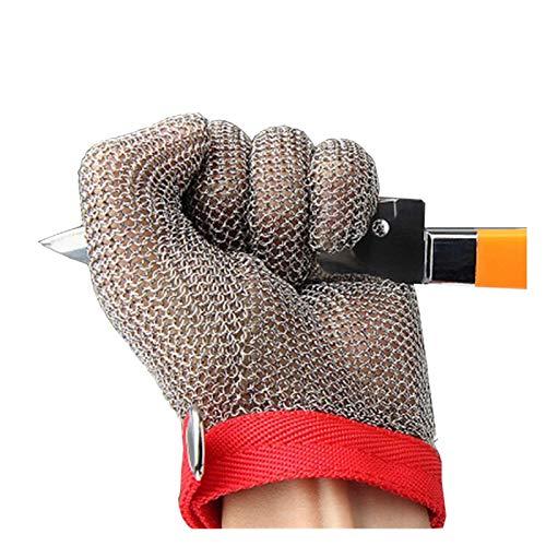 Schnittfeste Handschuhe 304L Anti-Schneidhandschuhe, Küchengarten-Angelsicherheits-Arbeitshandschuhe, Linke Und Rechte Hand Universal (Size : Small)