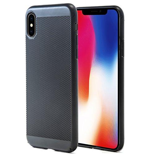MYCASE] beschermhoes voor iPhone X   Zwarte dunne Air Case   schaal kunststof   licht, dun, slank   Hardcover case tas telefoonhoes voor iPhone X