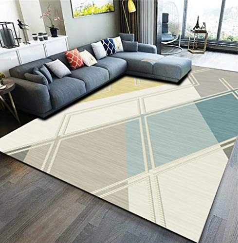 Alfombra moderna para el sofá, el salón, el dormitorio, el té, la habitación o la mesita de noche (0,8 x 1,6 m)