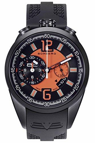 Bomberg Herren Chronograph Quarz Uhr mit Silikon Armband NS44.0086