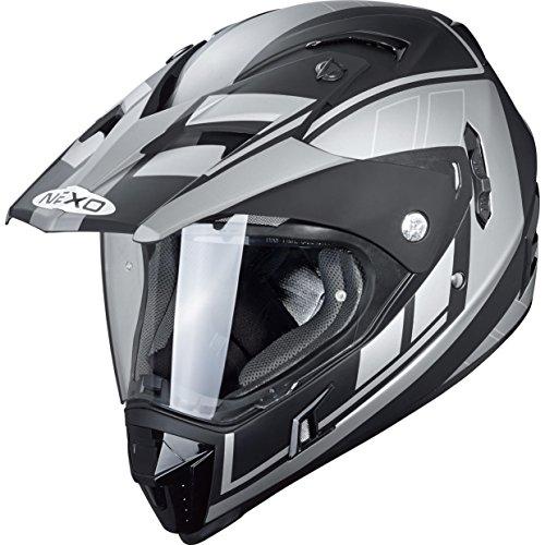Nexo Motocross Helm Motorradhelm Cross Helm Enduro Helm MX-Line Endurohelm, Offroadhelm für Damen und Herren, 1.550 g, effektive, mehrfache Be- und Entlüftungskanäle, Mattschwarz, XS - XL