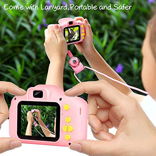 VATENIC Kids Toys for 3-10 Year Old Boys Girls, Kids Camera 1080P 2inch HD Children Digital Cameras for Girls Best Birthday Toys,Toddler Camera Gift for 3-9 Year Old Boy (with 32G SD Card) (Pink)
