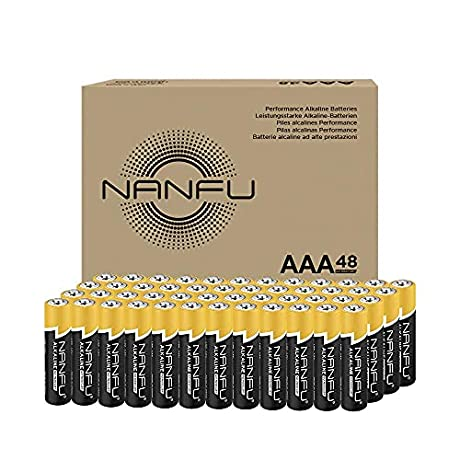 40%OƑƑ NANFU Alkaline Batteries AAA 48 Pack(Code also works for AA 48 AA 20 and 9v batteries)