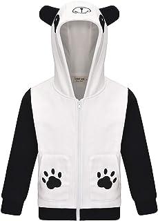 Thombase Cute Animal Pink Pig Ryan's World Panda Hooded Jakcets Coats for Kids Boys Girls 3-8 Years