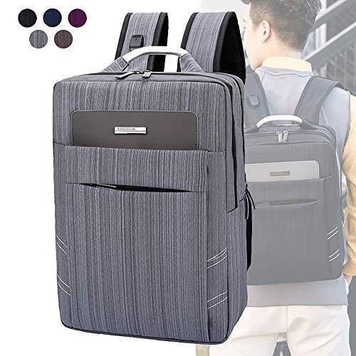 Liujie Back Bag Business, waterdichte USB-kosten grote capaciteit, laptop-picknickbike Travel, DOS Urban Bag, zwart