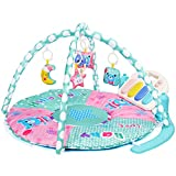 Amagoing Baby Play Gym, Kick & Play Piano Activity Mat with 5 Hanging Sensory Toys for Girl and Boy 3-36 Month