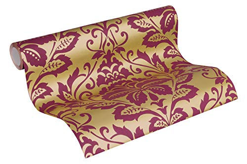 Barock Tapete Vliestapete Ornamente neo barock rokoko gold rot bordeaux 10,05m x 0,53m BEAUTIFUL WALLS 369103
