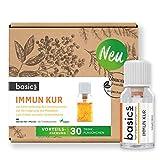 basics IMMUN KUR Monatskur, 30 x 10ml Fläschchen - Immunsystem stärken 15x Vitamin Komplex hochdosiert, Vegan mit Mineralstoffen - unterstützt...