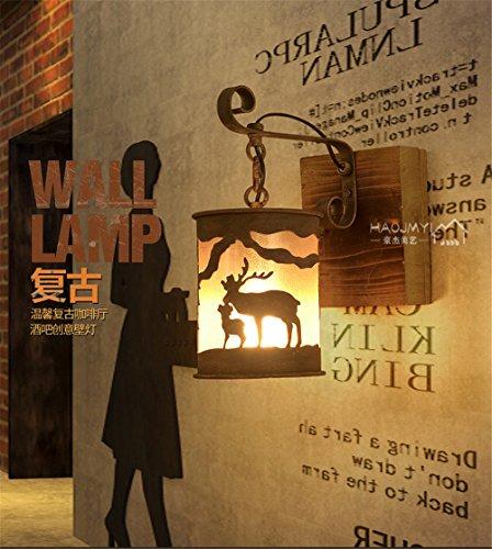 JJZHG wandlamp wandlamp waterdichte wandverlichting decoratieve wandlamp van retro creatieve wandlamp persoonlijkheid nachtkastje trappenhuis omvat: wandlamp, stoere wandlampen