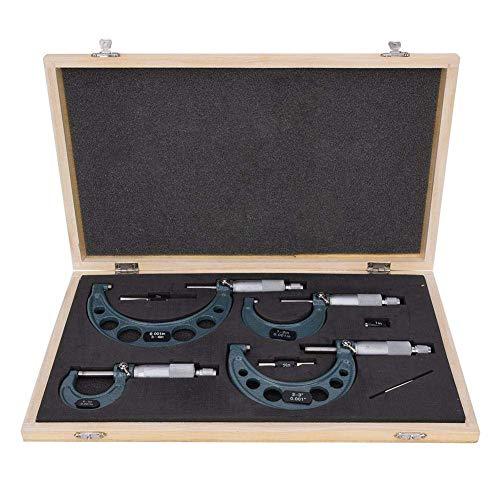 4-teiliges Außendurchmesser-Mikrometer 0-4 Zoll Imperial-Mikrometer-Set Ultrapräzises Messwerkzeug mit Schraubenschlüssel