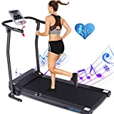 ANCHEER Treadmills,Folding Treadmill for Home,Running Machine with LCD Monitor,Electric Treadmills Pulse Grip and Safe Key,Jogging Walking Exercise Fitness Machine for Family & Office Workout