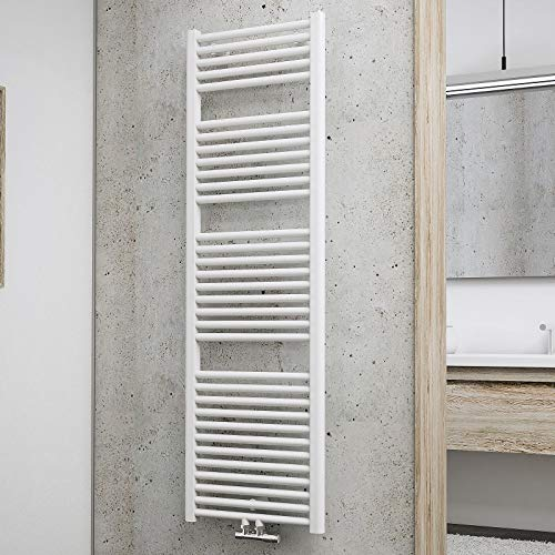 Schulte Badheizkörper München, 157 x 50 cm, 837 Watt, Mittelanschluss, alpinweiß, Design-Heizkörper, EP16050-M 04