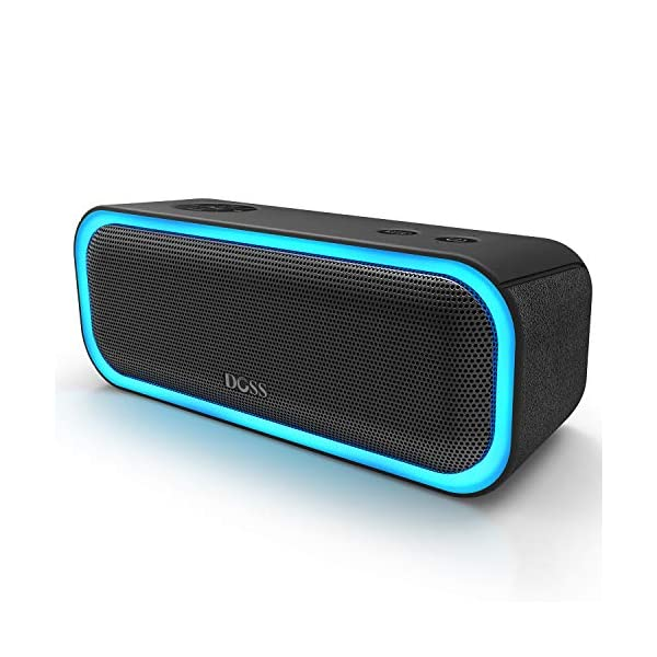Portable Wireless Bluetooth Speaker with 20W Stereo Sound, Active Extra Bass, Wireless Stereo Paring, Multiple Colors Lights, Waterproof IPX5, 10 Hrs Battery Life 3