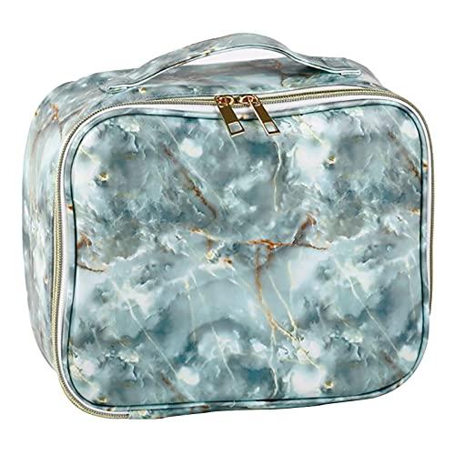 Phoeni Bolsa de maquillaje impermeable bolsa de maquillaje portátil de mármol bolsa organizador para adolescente chica mujer dama portátil aseo lavado bolsa (Style1), estilo 8, x,