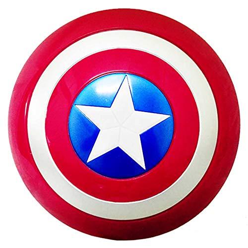 sookin Captain America Scudo Cosplay Puntelli Soldato Capitan America Scudo di Plastica con Luce e Musica Accessori per Costumi retrò Giochi di Ruolo Bar Decorazioni 12 Pollici A