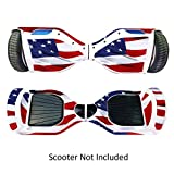 GameXcel Sticker for Hover Board - Skin for Self-Balancing Electric Scooter - Decal for Self Balance Mobility Longboard - Smart...