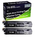 Confezione da 2 cartucce di toner per stampante laser HL-L9200 HL-L9300 (alta capacità) di ricambio per stampante Brother TN-900 (TN-900BK)