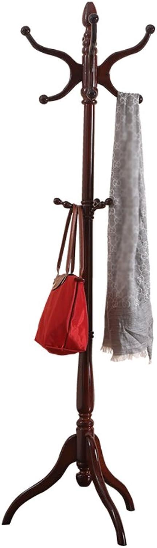 LQQGXLModern Minimalist Coat Rack, Solid Wood Hangers Floor Coat Rack Home Storage Clothes Rack Bedroom Racks (Design   2 )
