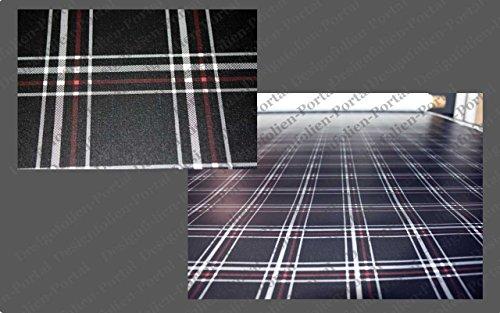 Digitaldruck Folie, GTI Look , Schottenmuster, Karo, Autofolie, Car Wrapping Folie mit Luftkanälen in 134cm x 25cm