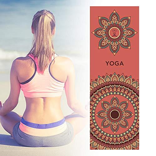 Funihut yoga-handdoek, antislip, dik en antislip, yoga-handdoek, hoogwaardige kwaliteit, absorberend en antislip, yoga-handdoek, 183 x 63 cm