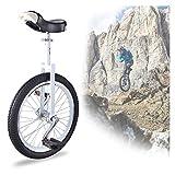 Competición Unicycle Balance robusto de 20 pulgadas Unicycles para niños / niños / niñas / principiante, bicicletas de servicio pesado con skid a prueba de skid neumático de montaña deportes al aire l