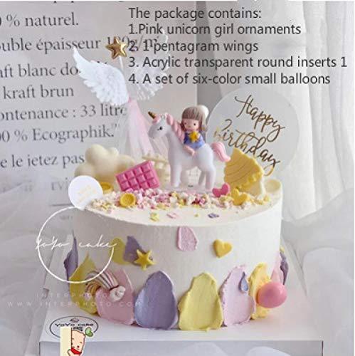 Cake Decoration Plugin Rocking Horse Trojan Birthday Party Children's Creative Accessories Set-Light Greyzeenca