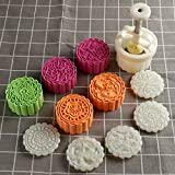 150g 5pcs Cookie Stamps Moon Cake Mold, Thickness Adjustable Christmas Cookie Press DIY