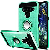 LG V50 Case, LG V50 ThinQ 5G Case, Yunerz Dual Layer Slim 360 Degree Rotating Ring Kickstand Protective Case with Magnetic Case Cover for LG V50/V50 ThinQ/V50 ThinQ 5G (Green)