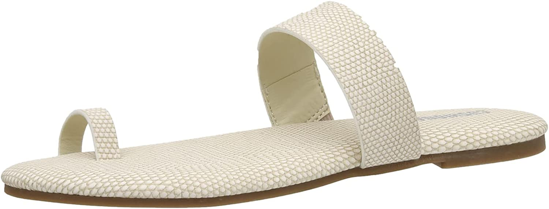 Cushionaire Women's Carson toe ring slide Sandal with Memory Foam