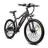 Bicicleta eléctrica de montaña de 26 '' con Motor de 350 W, batería extraíble Sony de 48 V y 11,6 Ah, Sistema de Carga E-Pas, Bicicleta para Adultos Shimano de 7 velocidades [EU Stock]