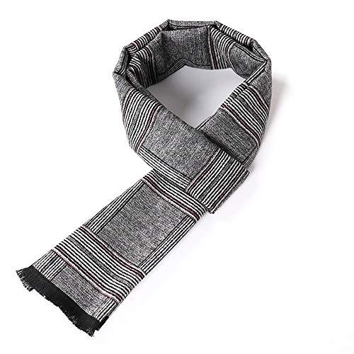 Dhmm123 Bufandas cálidas Bufanda para Hombre Elegante Clásico Largo cálido cálido a Cuadros Bufandas para otoño Invierno (Color : Gray, Size : OneSize)