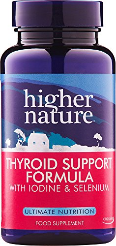 Higher Nature Thyroid Support Formula - Pack of 60 Capsules (Packaging May...