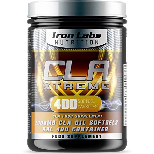 CLA Xtreme - 1000 mg x 400 cápsulas blandas | El suplemento de CLA definitivo | Ácido linoléico conjugado | Suplemento de CLA para deportistas n.º 1